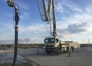 Čerpadlo betónu Putzmeister BSF36.16 H LS pracuje pre spoločnosť LADCE BETÓN