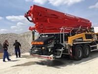 Nové čerpadlo betónu BSF36.16H pracuje pre spoločnosť L.S.M. Veľký Biel