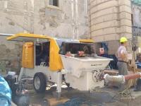 Stacionárne čerpadlo betónu Putzmeister v Banskej Štiavnici