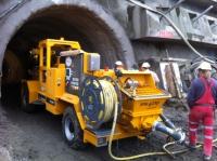 Striekacie čerpadlo Putzmeister na tunely Višňové