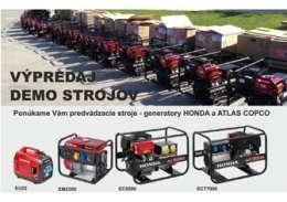 Ponuka DEMO generatorov HONDA a ATLAS COPCO