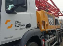 Čerpadlo betónu BSF38 pre spoločnosť JOMA SLOVAKIA