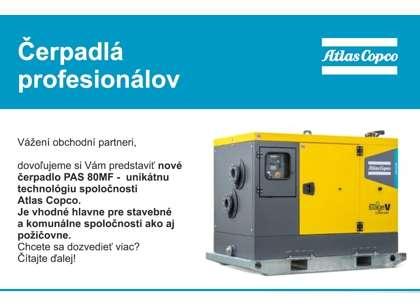 Vodné čerpadlá pre profesionálov ATLAS COPCO